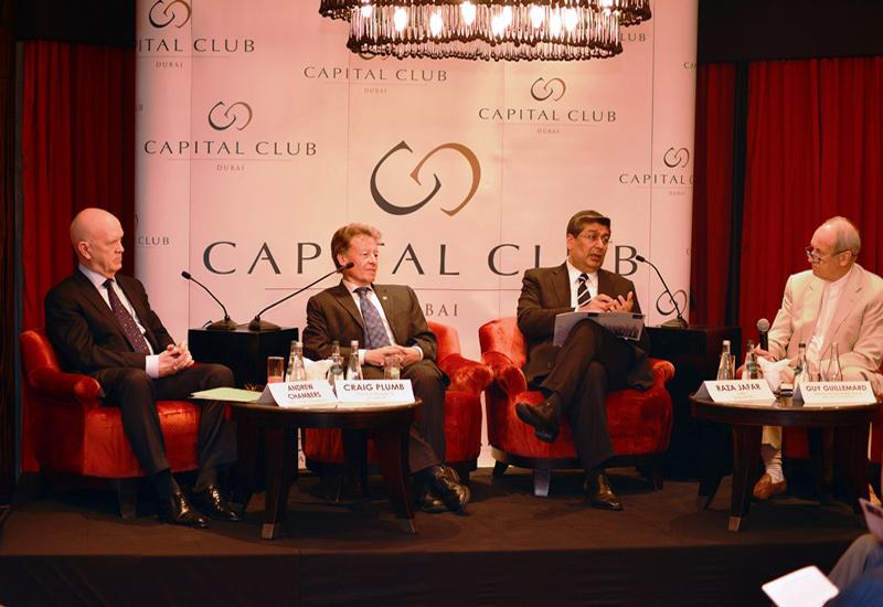 L-R: GGICO Properties CEO Andrew Chamber, JLL MEna head of research Craig Plumb and Enshaa CEO Raza Jafar