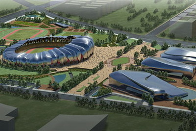 Shanxi Datong Sports Center, built by China Metallurgical Corp
