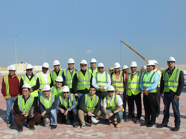 Students from Columbia University visiting an Ashghal project
