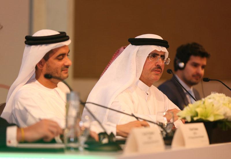 DEWA CEO HE Saeed Al Tayer reveals the winning bidder at a press conference at Dubai's Grand Hyatt hotel