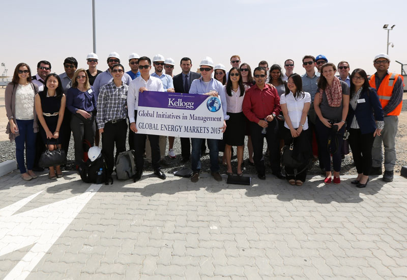 The tour introduced the visiting MBA students to a number of initiatives and programmes on sustainability development.