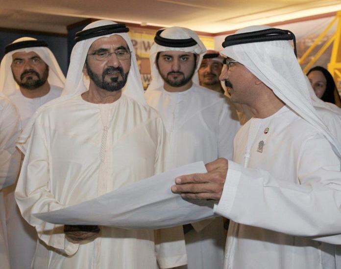His Highness Sheikh Mohammed Bin Rashid Al Maktoum, Vice President and Prime Minister of the UAE and Ruler of Dubai and Sheikh Hamdan bin Mohammed bin
