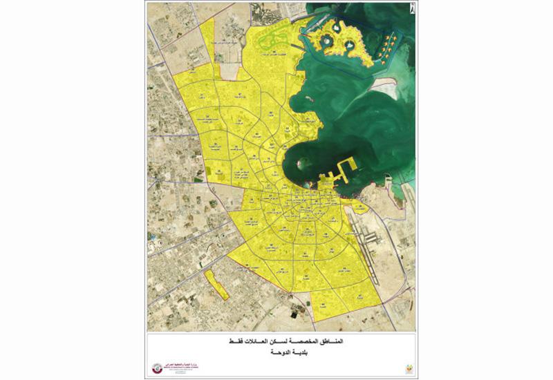 Qatar has released a map highlighting illegal labour camp zones in Doha. [Image: baladiya.gov.qa]