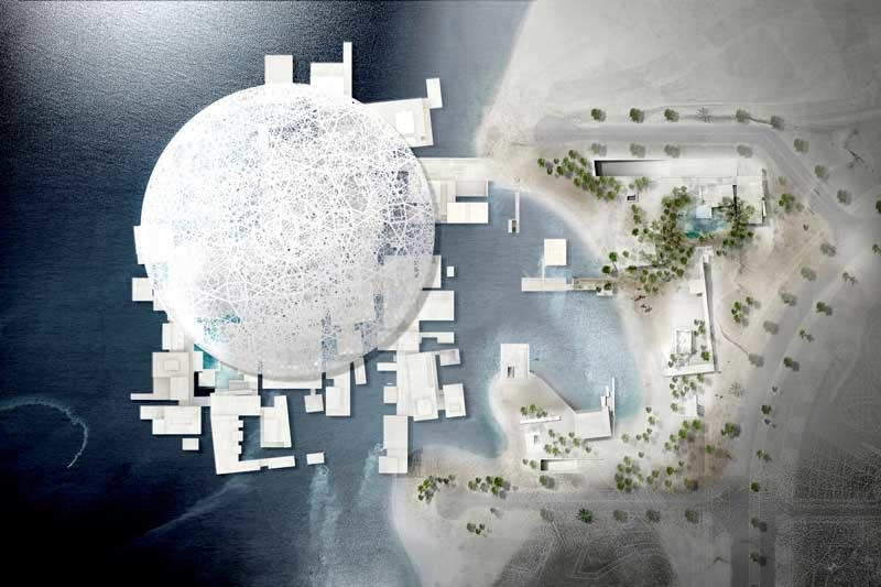 Render of the Louvre Abu Dhabi