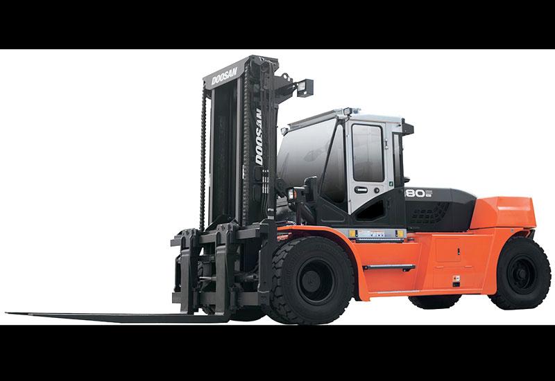 Doosan's DV180S-7 Series-7 forklift truck boasts a capacity of 18 tonnes.