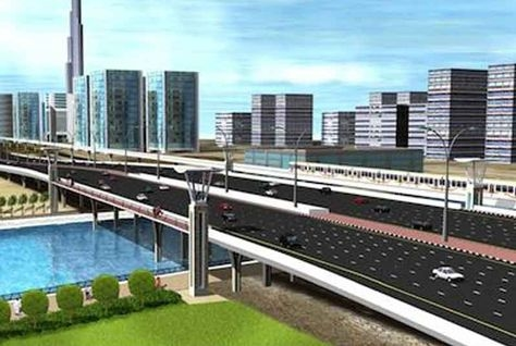 A CGI of the proposed bridge across Sheikh Zayed Road.