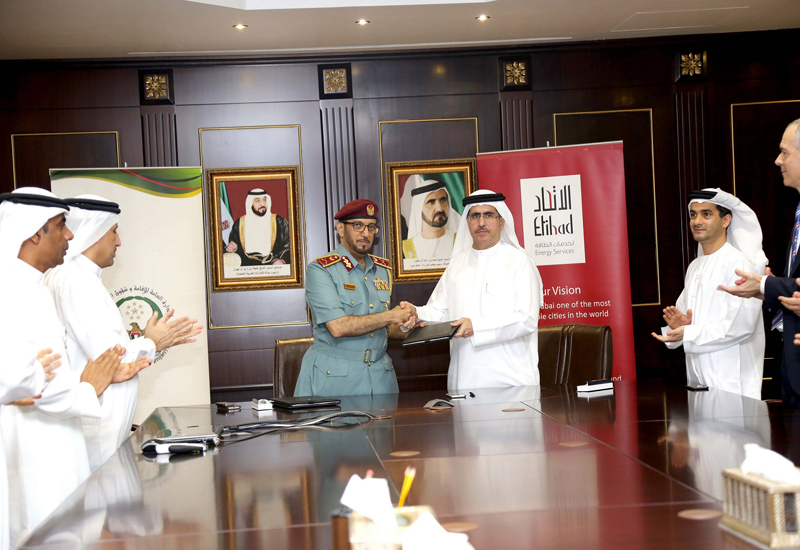 HE Major General Mohammed Ahmed Al Marri (left), with HE Saeed Al Tayer (right).