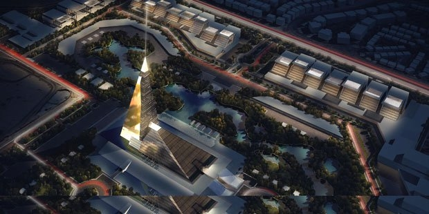 Zayed Crystal Tower will dwarf the pyramids of Giza.