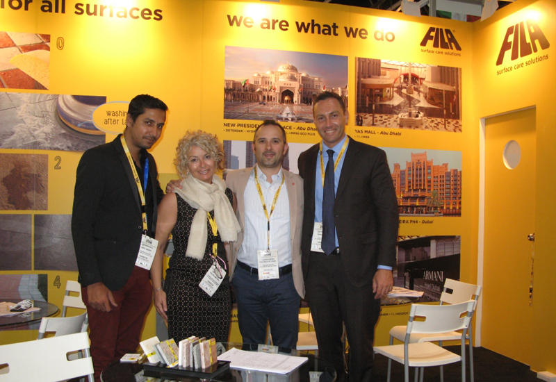 Fila's Madinat Jumeirah contract win was announced at Middle East Stone 2015.
