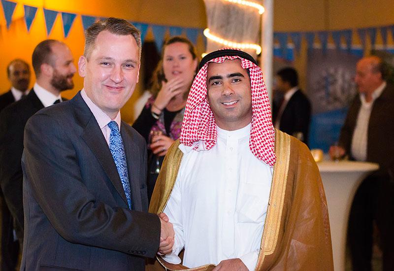 Interserve CEO Adrian Ringrose and  Rezayat GM Shakeeb Alirewa