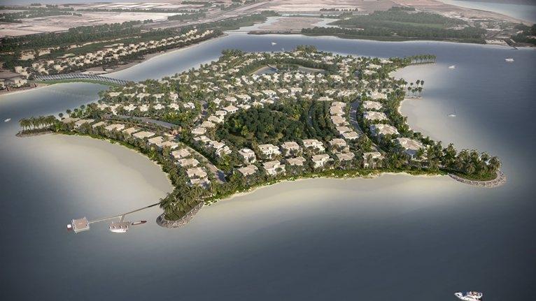 Falcon Island is located between Ras-Al-Khaimah city and Umm Al Quwain.