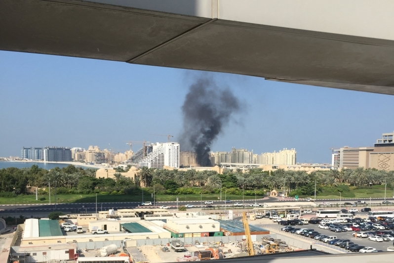 A fire broke out at Palm Jumeirah.