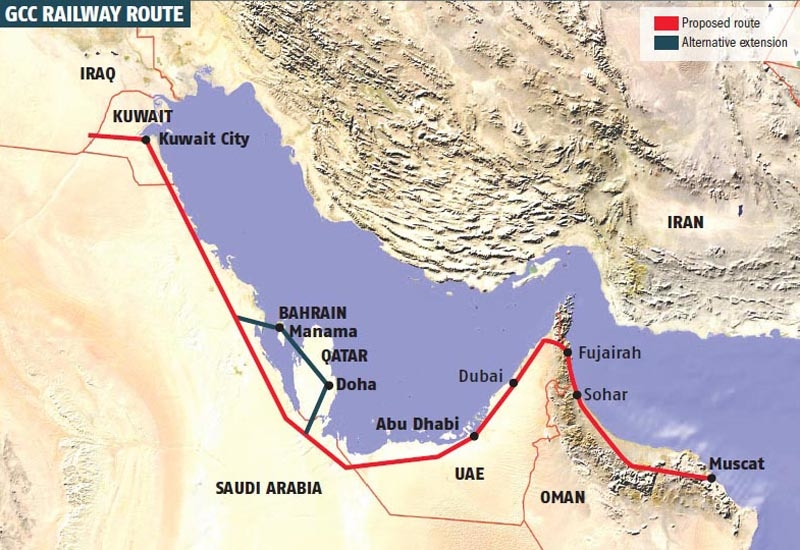 GCC Rail is scheduled to link all six GCC member states by 2018.