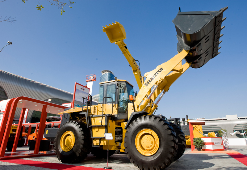 UAE distributor GENAVCO brought a host of brands to INTERMAT Middle East 2014, including Shantui, Vogele, Hamm, and Isuzu.