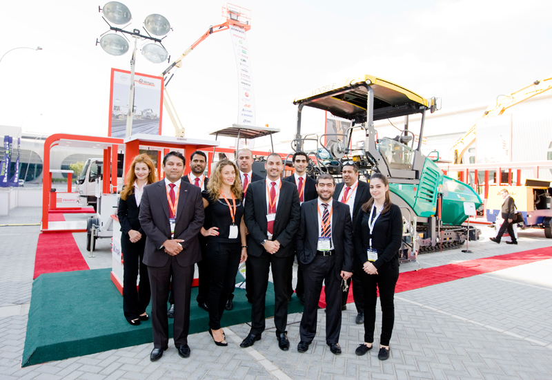 The GENAVCO team poses for a group photograph at INTERMAT Middle East 2014.