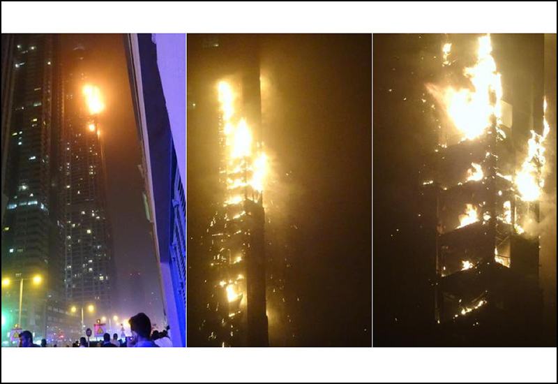 The Torch Tower fire. Images: Gawker.