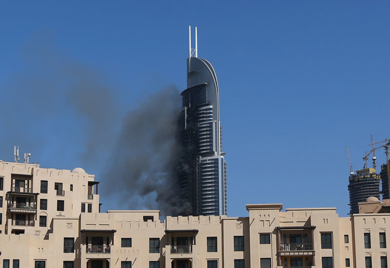 Fire in the tower: The Address Hotel in Downtown Dubai caught fire on 31 December, 2015.