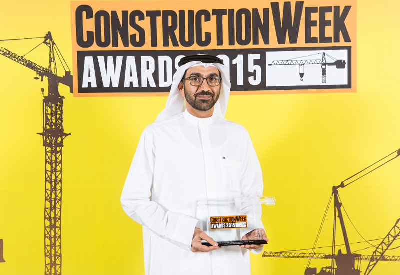 Chief executive officer HE Hesham Al Qassim accepted the Developer of the Year Award at last night's Construction Week Awards 2015.