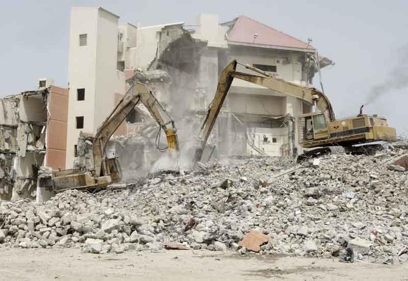 Demolition of Dubai's Metropolitan Hotel to make way for the new $3bn Al Habtoor City