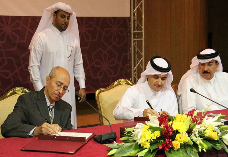Hyder?s Maher Chatila at the official signing ceremony for Ashghal?s Expressway Projects contracts