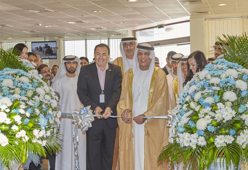 Sheikh Saud bin Saqr Al Qasimi Supreme Council Member and Ruler of Ras Al Khaimah, cuts the ribbon with Dr Anton Stefov, president and CEO of IAG.