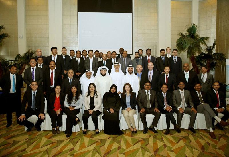 Jamal Lootah poses alongside Imdaad's business units.