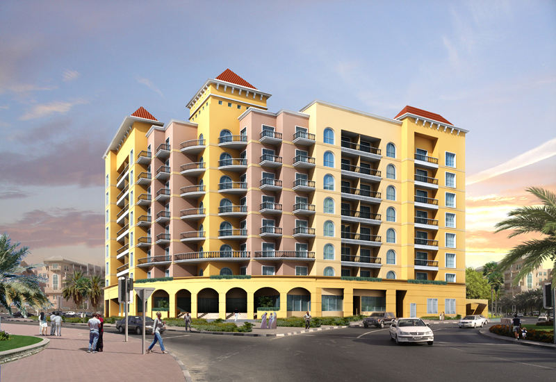 The development features one-, two- and three bedroom flats, a roof top pool, gymnasium and sauna