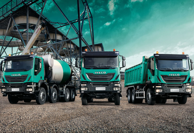 The Iveco Trakker tractor head, tipper body and mixer body.