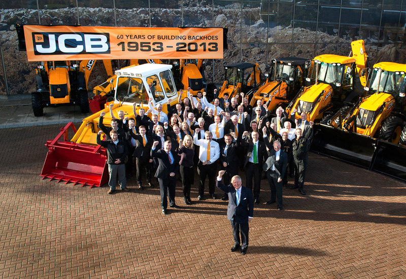 JCB chairman Lord Bamford leads the 60th anniversary celebrations