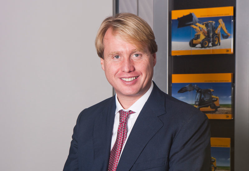 Bullish: JCB heir Jo Bamford says it won't be long before it's the largest equipment brand in the region.