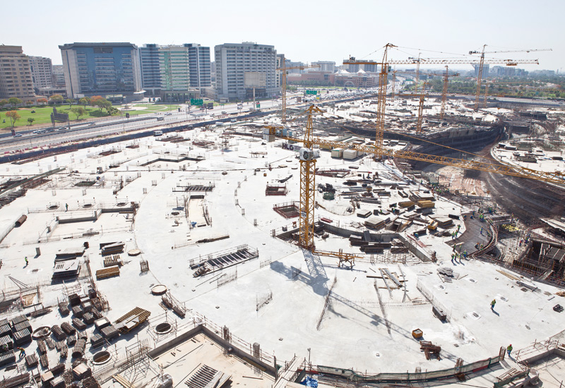 A bird's eye view shows the amount of work going on at the Jewel of the Creek site.