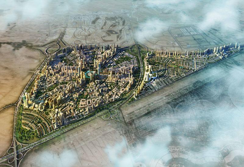 Aerial view of Jumeirah Village