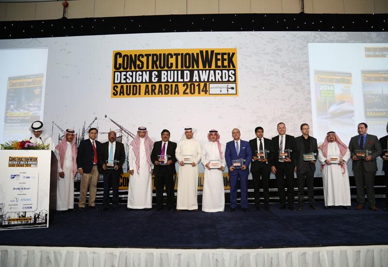 Winners of the Construction Week Saudi Arabia Design & Build 2014 Awards.