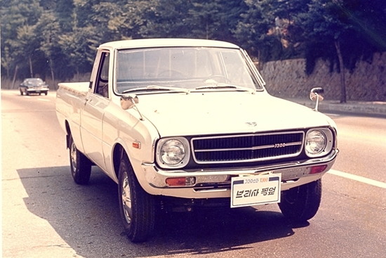 A Brisa pickup - the first model Kia exported from South Korea.