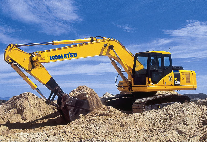 A 20t Komatsu PC220 - a popular choice for the discerning Middle East customer.