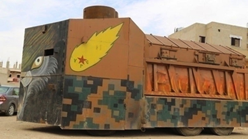 A 'Mad Max'-style homeade Kurdish vehicle.