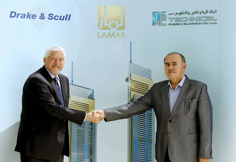 L-R: Drake & Scull CEO Khaldoun Tabari and Technical Glass and Aluminium Company managing partner Hicham Hassan