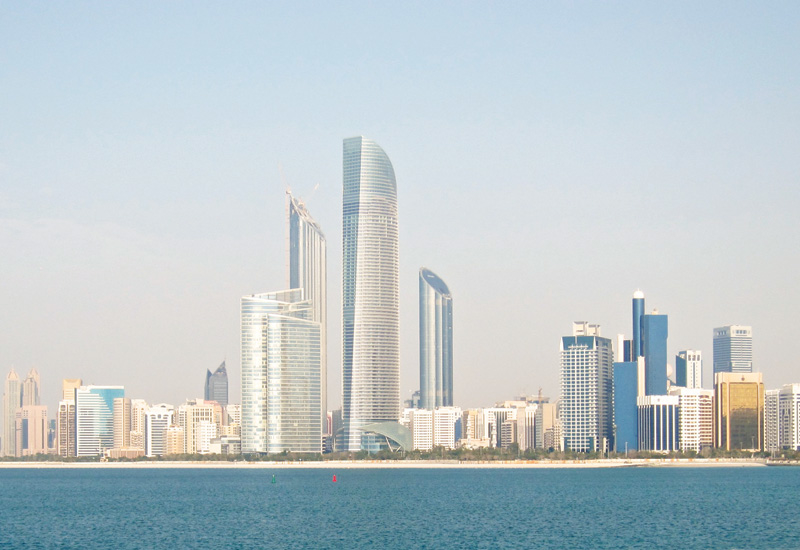 Making a mark: Landmark Tower (centre) is one of only a handful of recent completions in Downtown Abu Dhabi.