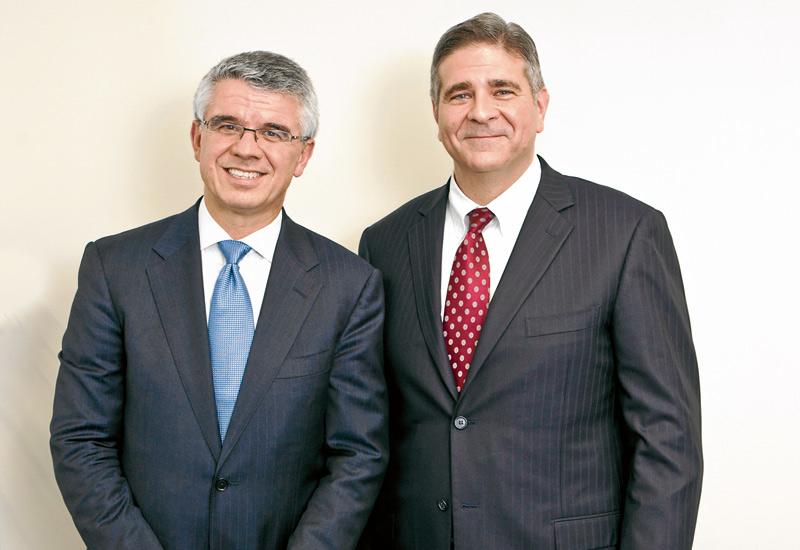(L-R) Louis Berger International President Jim Stamatis and MENA Senior Vice President Tom Topolski.