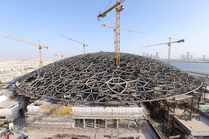 The Louvre Abu Dhabi's 7,000 tonne dome roof.