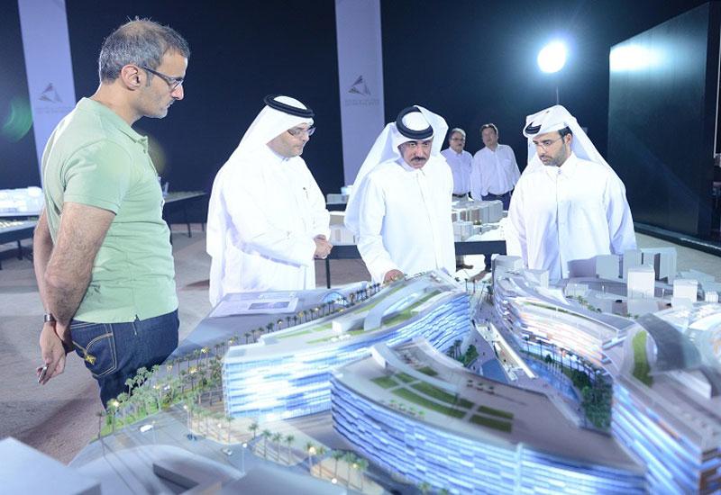 Qatar's transport minister HE Jassim Saif Ahmed Al Sulaiti inspects the Lusail LRT project.