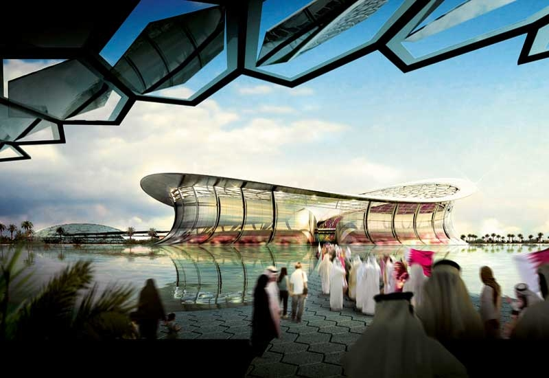 Lusail iconic stadium image from Qatar's 2022 World Cup bid documents.