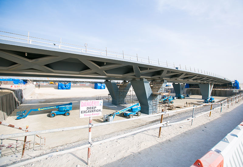 The five concrete bridges linking the Qetaifan islands at Lusail City in Qatar used one continuous post-tensioning method despite long spans.