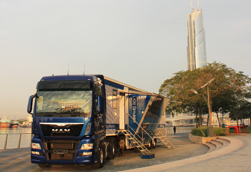 MAN's truck driving simulator allows users to hone their on-road and off-road skills in a consequence-free environment.