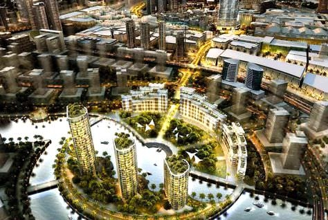 An artist's impression of Business Bay extension project.