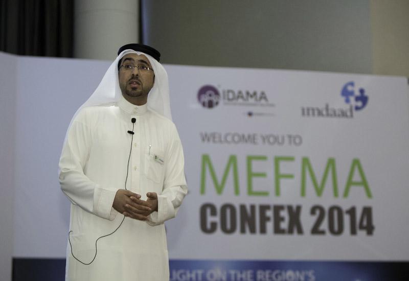 Ali Al Suwaidi, board member, MEFMA and vice president, Idama, speaking at MEFMA Confex 2014.