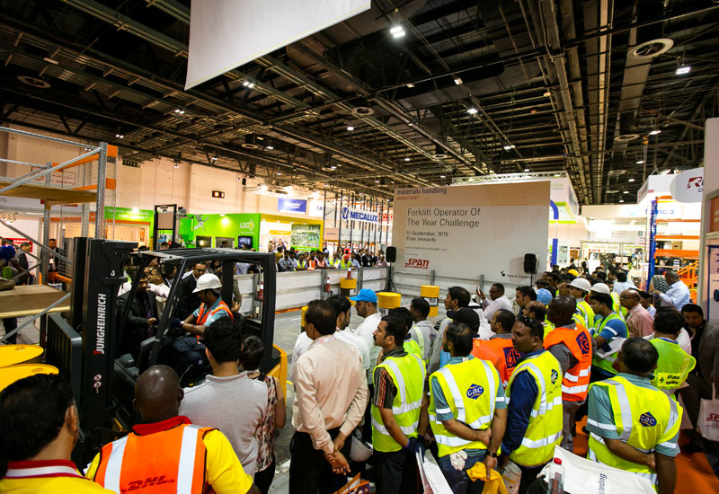 The 'forklift operator of the year' challenge received 70 applications in just a few days and drew quite a crowd.
