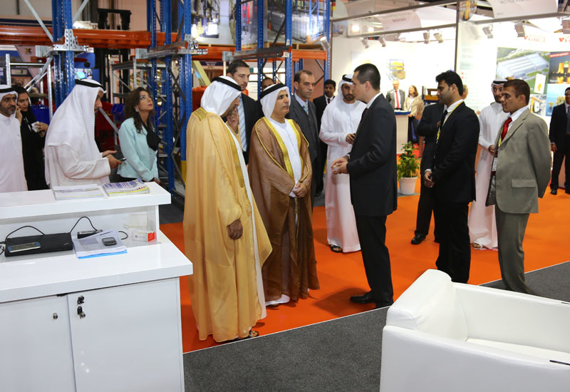 Mattar Al Tayer, chairman of Dubai Roads and Transport Authority  (RTA), attended the event to cut the ribbon and meet exhibitors.