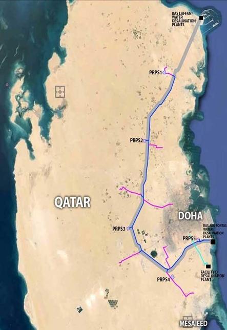 Map detailing Mega Reservoirs sites.