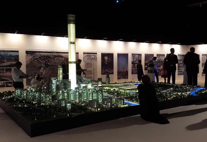 An impressive scale model of Dubai's upcoming mega project was unveiled during the official launch of Meydan One.